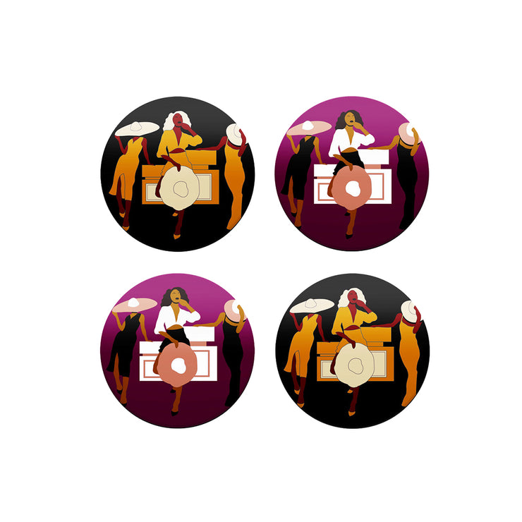 Girlfriends Coasters (Set of 4)