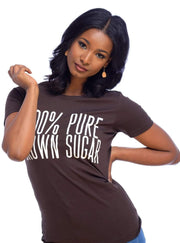 100% Pure Brown Sugar T-Shirt - Izzy & Liv - graphic tee