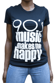Graphic Tee - 90s Music Makes Me Happy T-Shirt