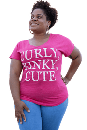 Curly, Kinky, Cute  Dolman T-Shirt - Izzy & Liv - graphic tee