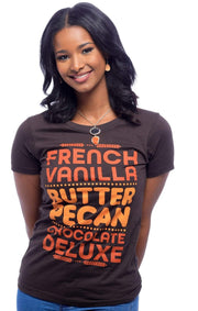 Graphic Tee - French Vanilla, Butter Pecan, Chocolate Deluxe T-Shirt