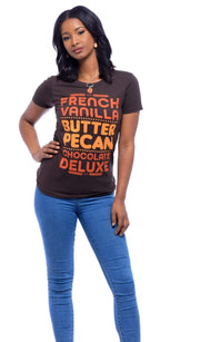 French Vanilla, Butter Pecan, Chocolate Deluxe T-Shirt - Izzy & Liv - graphic tee