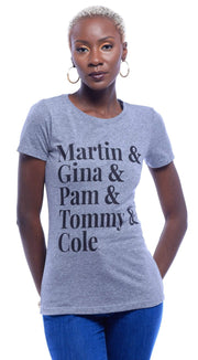 Martin, Gina, Pam, Tommy & Cole T-Shirt - Izzy & Liv - graphic tee