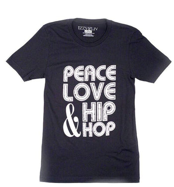Graphic Tee - Peace, Love Hip Hop  T-Shirt