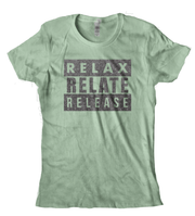 Graphic Tee - Relax, Relate, Release Metallic T-Shirt