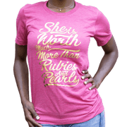 She is Worth More Than Rubies  Gold Foil Tee - Izzy & Liv - graphic tee