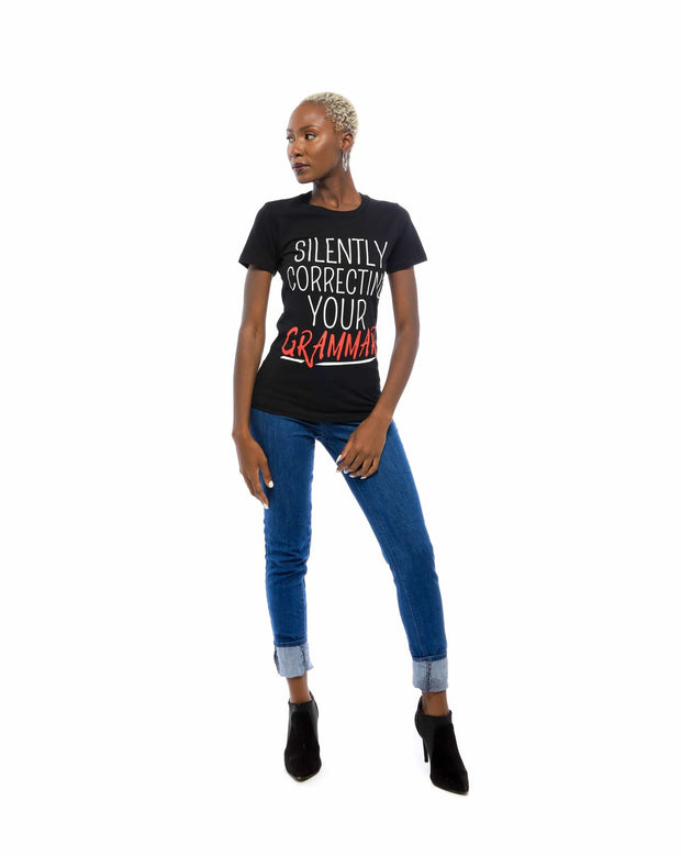 Silently Correcting Your Grammar T-Shirt - Izzy & Liv - graphic tee