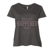 Graphic Tee - What Had Happened Was Metallic Print T-Shirt