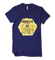 Dipped In Honey T-Shirt - Izzy & Liv - crew neck