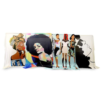 Multicolor Afro Woman Versatile Tapestry/Throw - Izzy & Liv - blanket