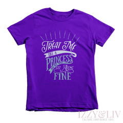 Treat Me Like a Princess Kids Tee - Izzy & Liv - 1