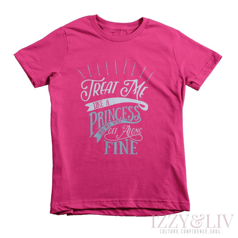 Treat Me Like a Princess Kids Tee - Izzy & Liv - 2