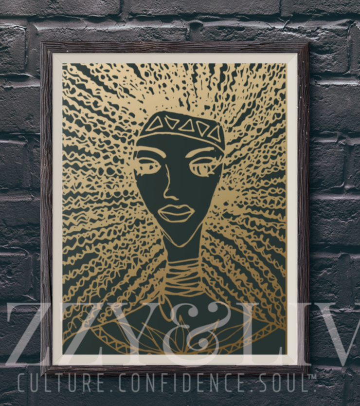 Golden Warrior Printable Art