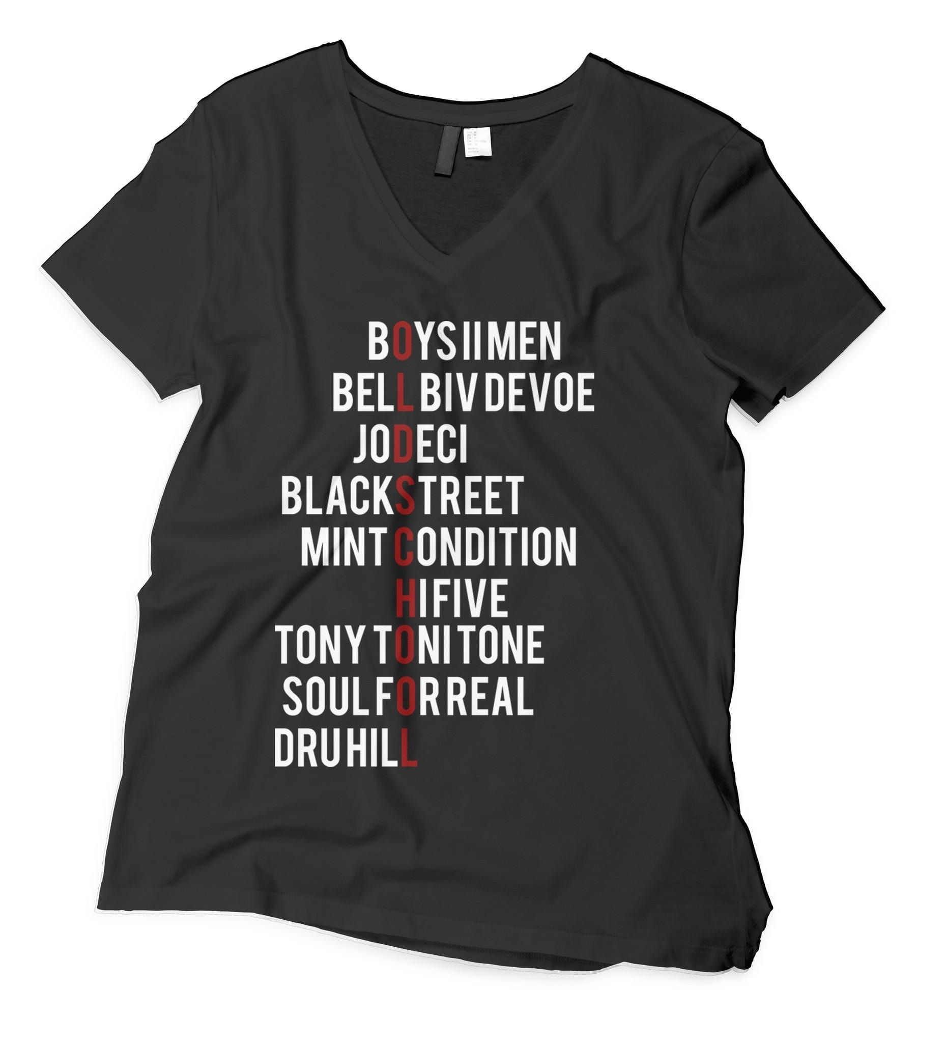 Old School Male R&B Groups V-Neck T-Shirt