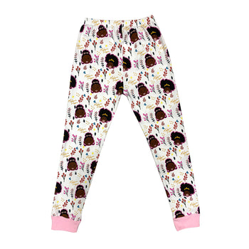 Melanin Poppin 3-Piece Pajama Set for Girls