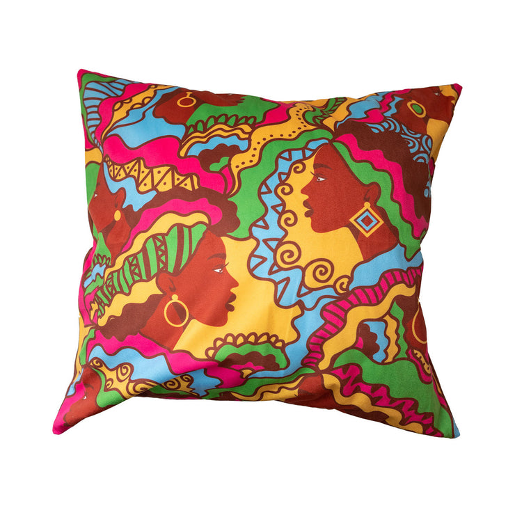 Beautiful Bold Sistas Throw Pillow Cover
