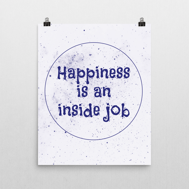 Happiness is an Inside Job Poster - Izzy & Liv - poster