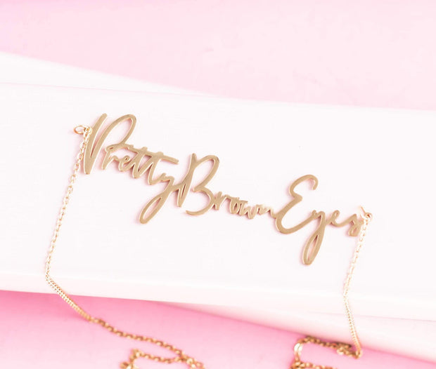 """Pretty Brown Eyes"" Necklace - Izzy & Liv - necklace"