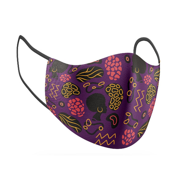 Purple Reign Facial Covering w/Adjustable Straps (Adults)
