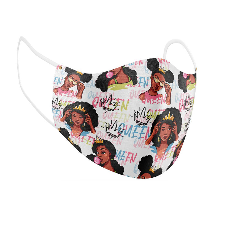 Queens and Things Facial Covering (for Youth) w/Adjustable Straps