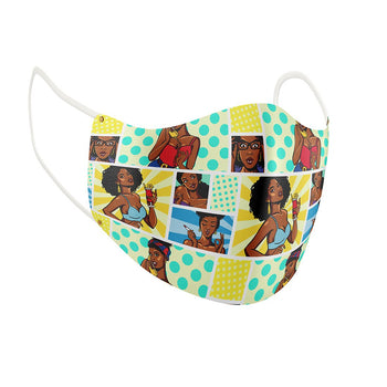 She's So Animated Facial Covering w/Adjustable Straps (Adults)