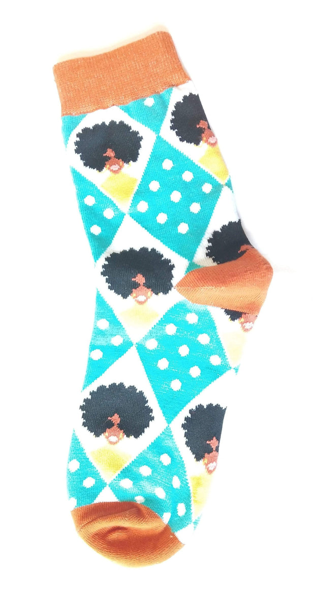 '70s Pattern Socks (Afro & Sunglasses)