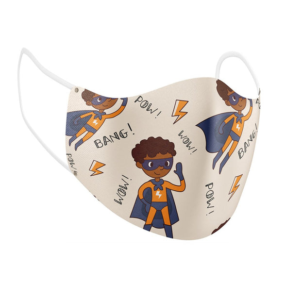 Pow! Wow! Bam! Facial Covering (for Youth) w/Adjustable Straps