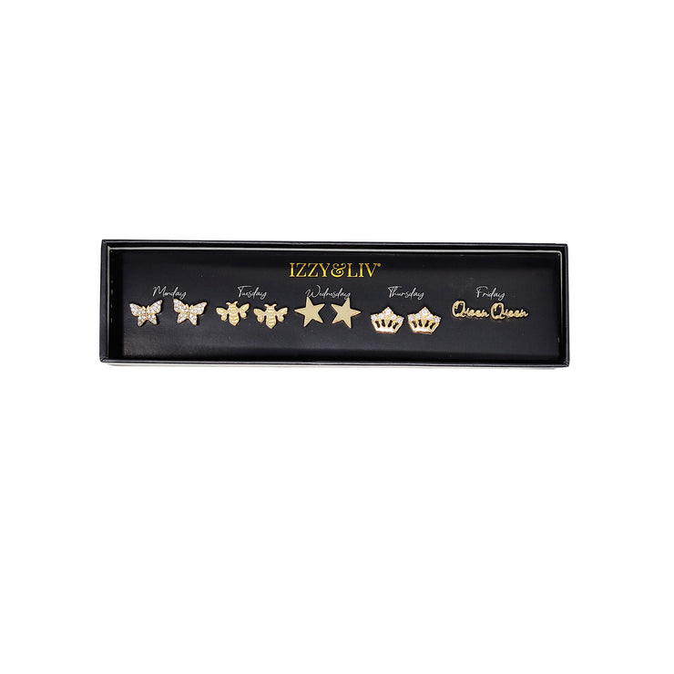 Dream Girls Earring Set (18k gold plated or silver plated)