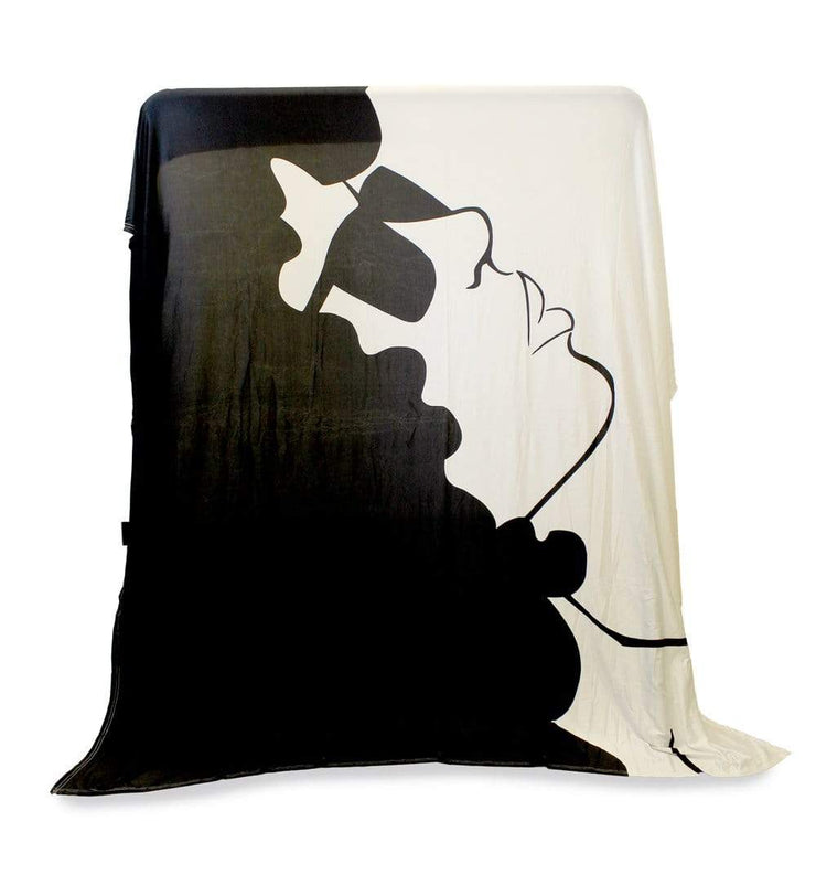 Curly Fro Black & White Versatile Tapestry/Throw - Izzy & Liv - blanket