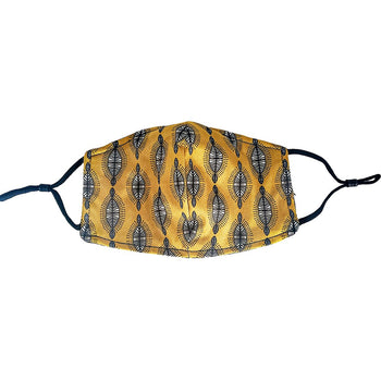 Tribal Queen Facial Covering w/Adjustable Straps (Adults)