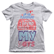 On The Playground Youth Tee - Izzy & Liv - kid tee