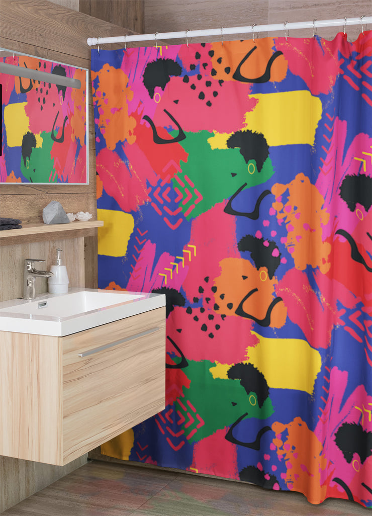 Vibrant Vibes Shower Curtain