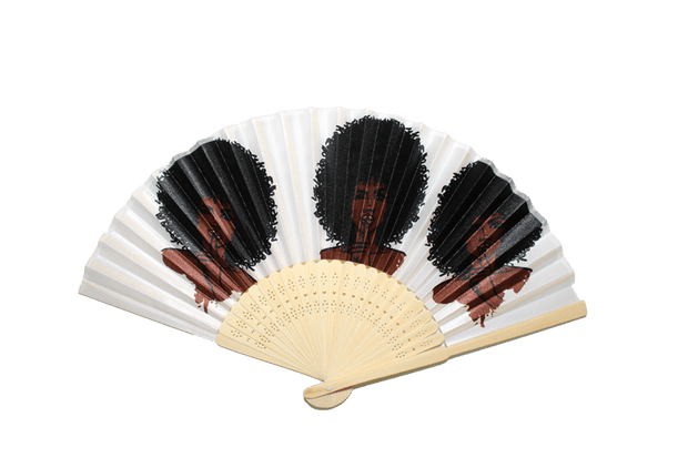 Silence Is Golden Bamboo Hand Fan