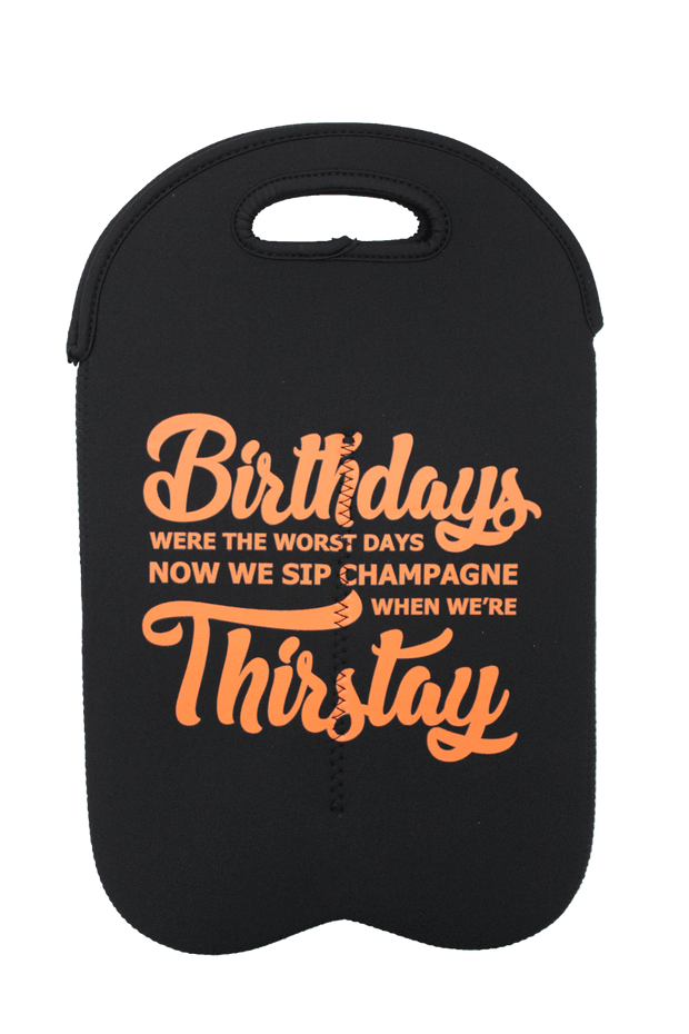 """Sip Champagne While Thirtstay"" Double Wine Tote - Izzy & Liv - Accessories"