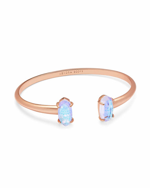 Kendra Scott Edie Rose Gold Cuff Bracelet In Dichroic Glass