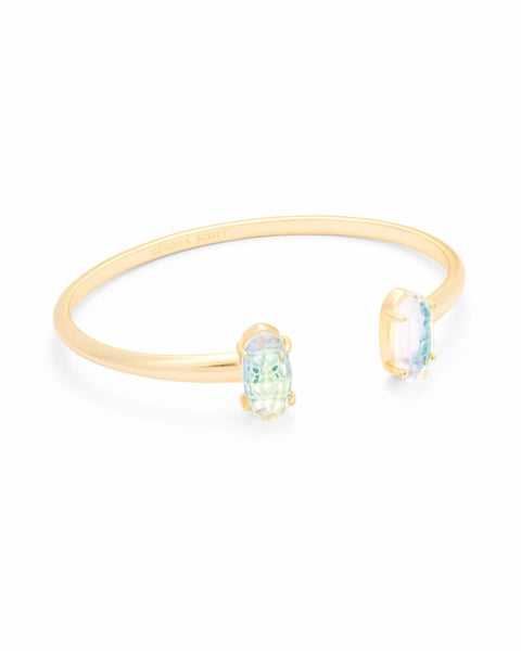 Kendra Scott Edie Gold Cuff Bracelet In Dichroic Glass