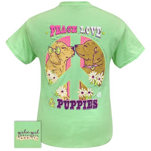 Peace Puppies Mint Green Short Sleeve Tee