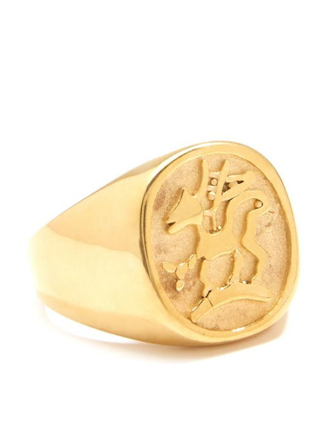 Zenzii Knight Engraved Coin Ring