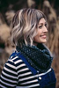 Across The Pond Cowl Knitting Pattern by Drea Renee Knits