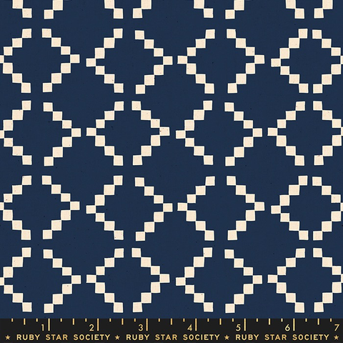 Ruby Star Society Golden Hour by Alexia Marcelle Abegg Tile Navy
