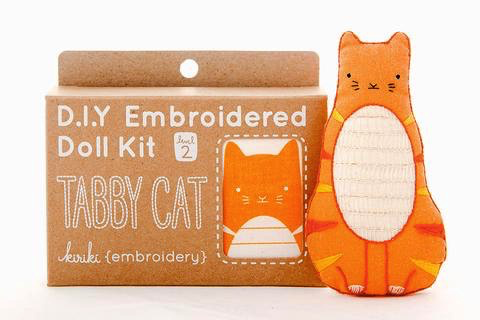 Kiriki Press Tabby Cat Embroidery Kit