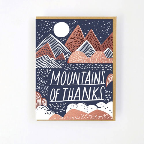 Hello Lucky Mountain of Thanks Card