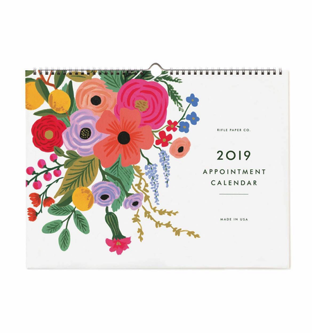 Rifle Paper Co. 2019 Garden Party Appointment Calendar