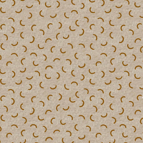 Surface by Amy Van Luijk for Figo Fabrics Cotton Linen Eclipses Golden Mustard