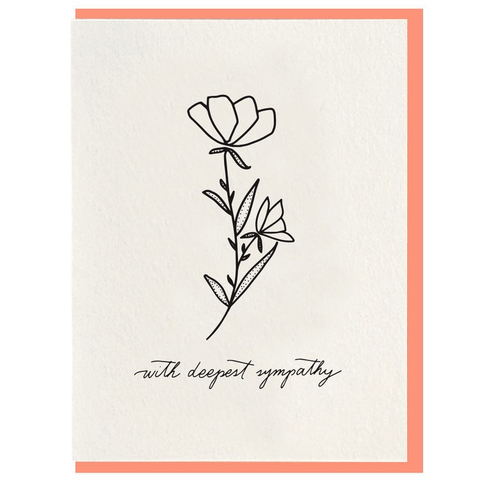 Dahlia Press Deepest Sympathy Card