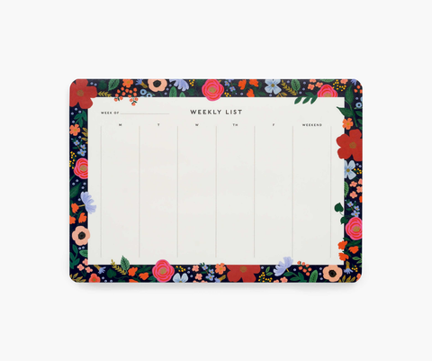 RIfle Paper Co. Wild Rose Weekly Desk Pad
