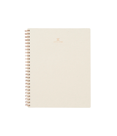 Appointed Grid Workbook Natural Linen