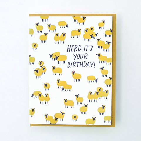 Hello Lucky Herd It's Your Birthday Card