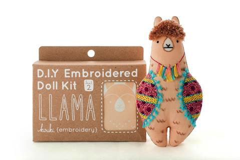Kiriki Press Llama Embroidery Kit