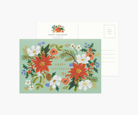 Rifle Paper Co. Holiday Floral Postcard (10 ct)